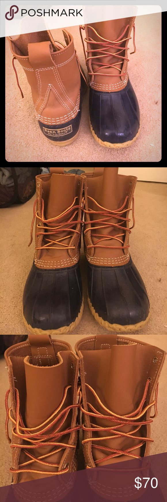 L.L Bean Women's Duck Boots Ll bean women's duck boots only worn once. In great condition! L.L. Bean Shoes Winter & Rain Boots