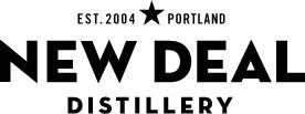 New Deal Distillery & tasting room, a small craft distillery on Distillery Row in Portland. Spirits include: New Deal Vodka, Portland 88 Vodka, Hot Monkey Pepper-Flavored Vodka, Mudpuddle Bitter Chocolate Vodka, New Deal Gin No. 1, New Deal Gin 33, Distiller's Workshop Series, Ginger Liqueur, and Coffee Liqueur