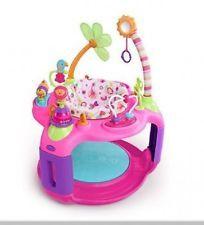 Baby Exersaucer Activity Center Bouncer Jumper Bright Starts Pink NEW