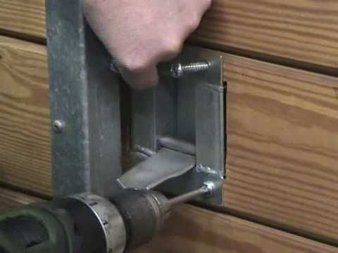 Horse stall gravity latch installation instructions. Safety latch used for horse stalls and for people with disabilities to open and shut the stall door easily.