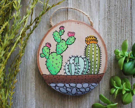 Hey, I found this really awesome Etsy listing at https://www.etsy.com/ca/listing/456848264/mini-cactus-terrarium-painting-on-wood