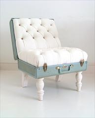 Suitcase Chair.  Love the concept!  For a travel themed room