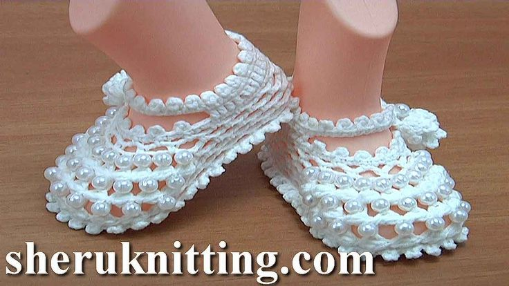 Crochet Buckle Baby Shoes https://www.sheruknitting.com/crochet-tutorials/baby-shoes.html There are over 800 video tutorials of crochet and knitting in different techniques. Also, you can see unique authors' design in these tutorials only on a website at https://www.sheruknitting.com/  Enjoy all you get from a membership: - No advertising on all tutorials; - Valuable in different devices; - Step by step and detailed video tutorials; - New courses added every week