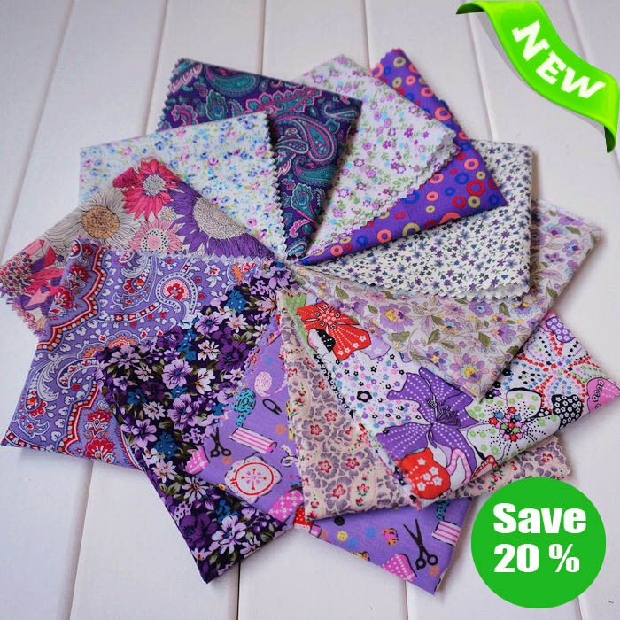 """Aliexpress.com : Buy New Arrival~! Free Shipping 12piece/set Purple Series Cotton Poplin Quilted Fabric Set 'Sweet Lilacs'    45x50cm/ 17.7""""x19.7"""" from Reliable fabric for sewing suppliers on Nana Fabrics $34.00"""
