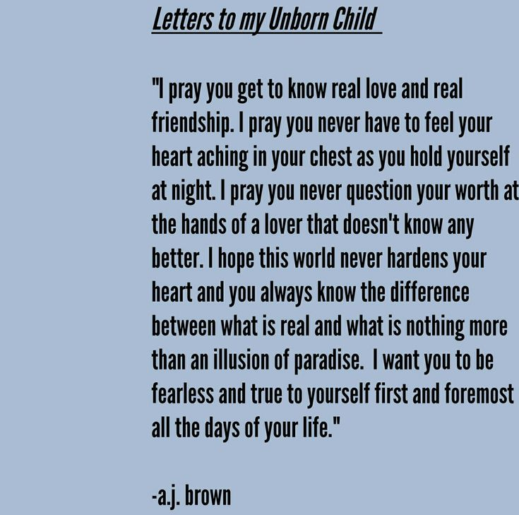 Losing A Unborn Baby Quotes: Love Letters To My Unborn Child. #love #motherhood #future