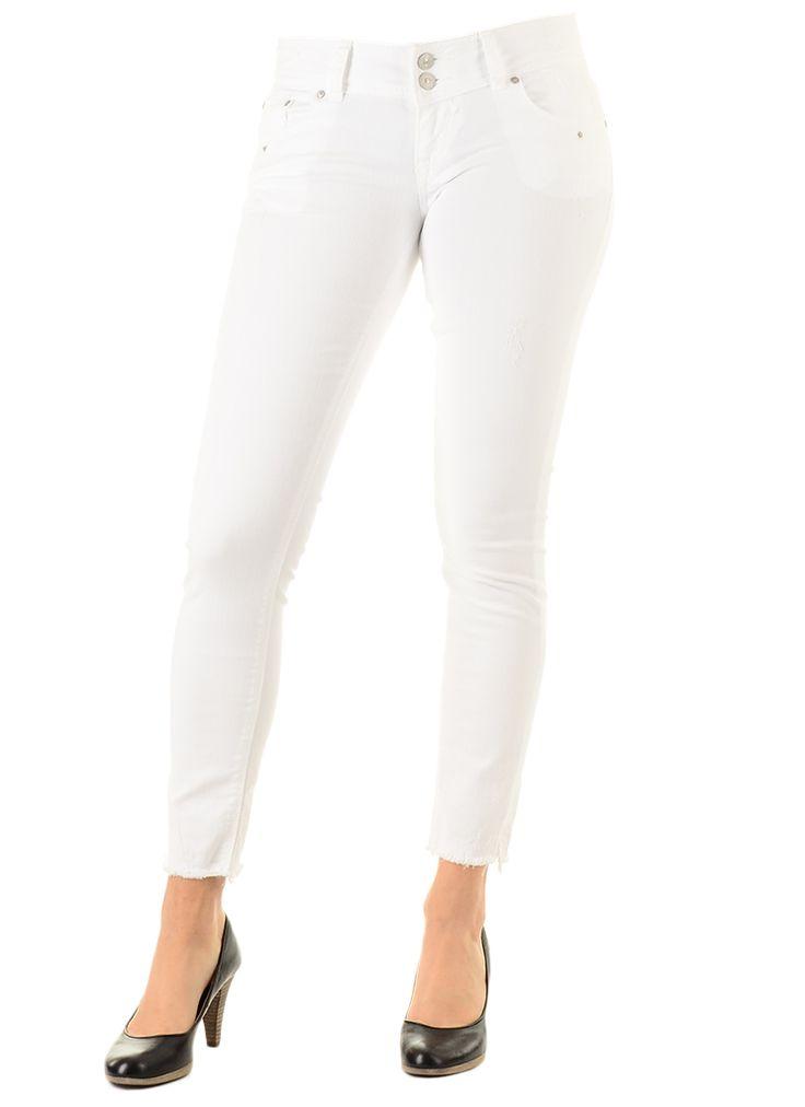 LTB Jeans GEORGET Broek white 100  Description: LTB Jeans georget Dames kleding Broeken wit? 6995  Direct leverbaar uit de webshop van Express Wear  Price: 34.98  Meer informatie