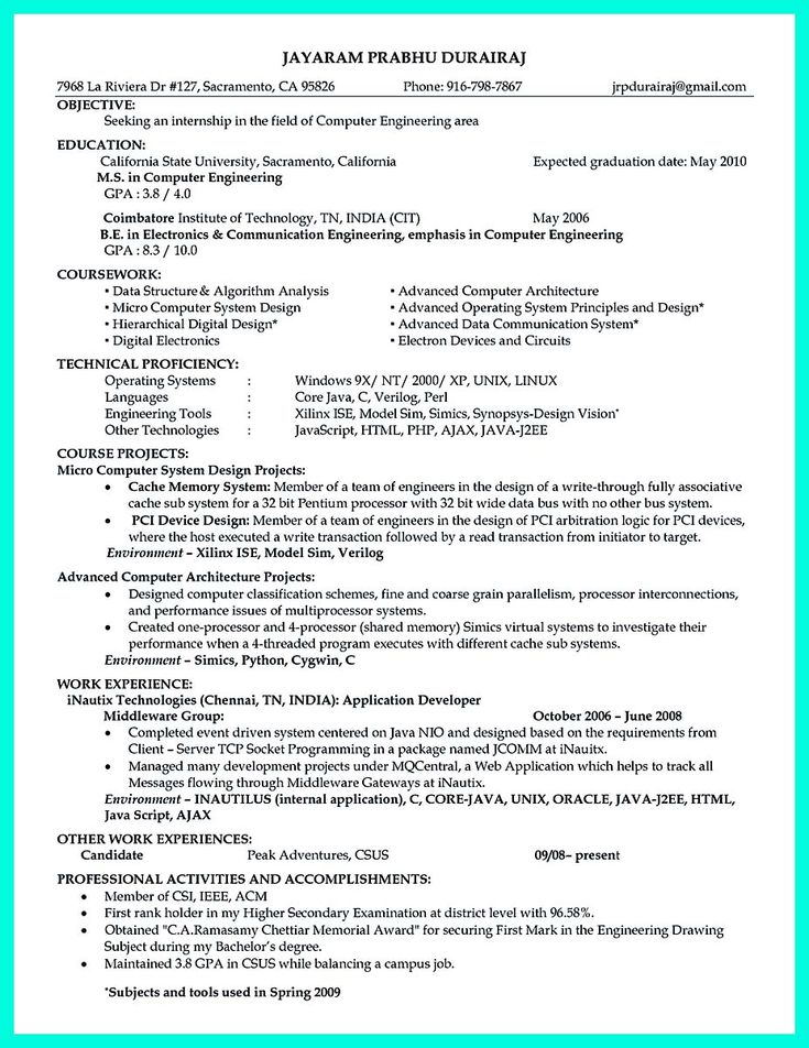 cool The Perfect Computer Engineering Resume Sample to Get Job Soon, Check more at http://snefci.org/the-perfect-computer-engineering-resume-sample-to-get-job-soon