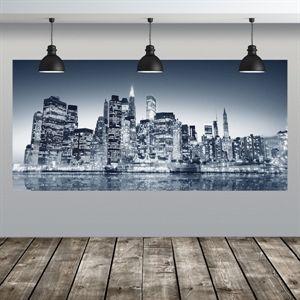 decorazione adesiva notturno città notte | Wall Stickers Decorazioni Adesive