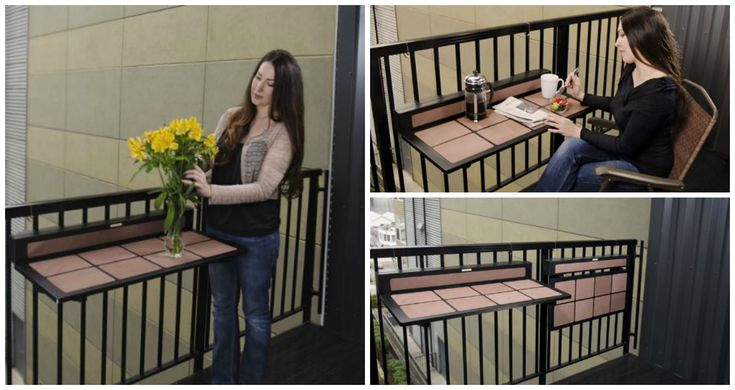 High Quality Wooden Foldable Balcony Table For Small Spaces | DIY And Craft | Pinterest  | Space Saving Table, Balconies And Small Spaces