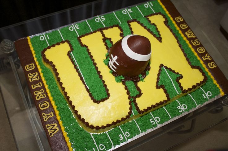 University of Wyoming football cake I made for my nephew
