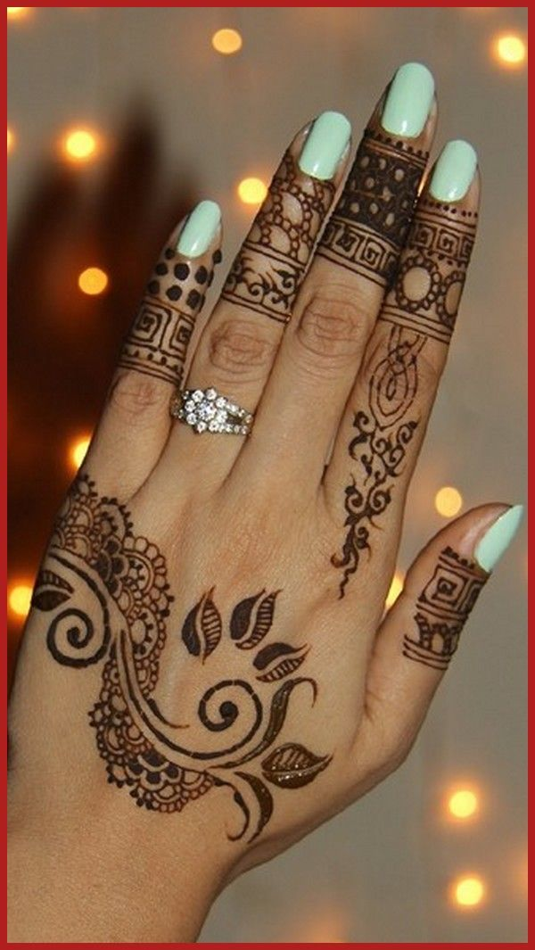 Latest And Unique Henna Designs For Girls