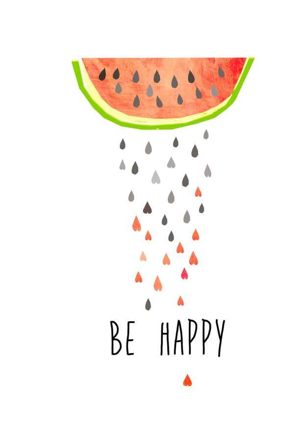 Illustration mit Melonen, Sommer, Wanddeko / summerly illustration, watermelon, art made by Haus nr.26 via DaWanda.com