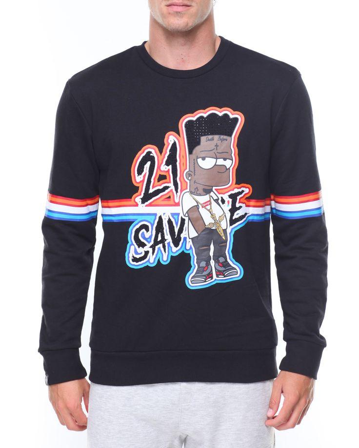 Savage Bart Print Sweatshirt
