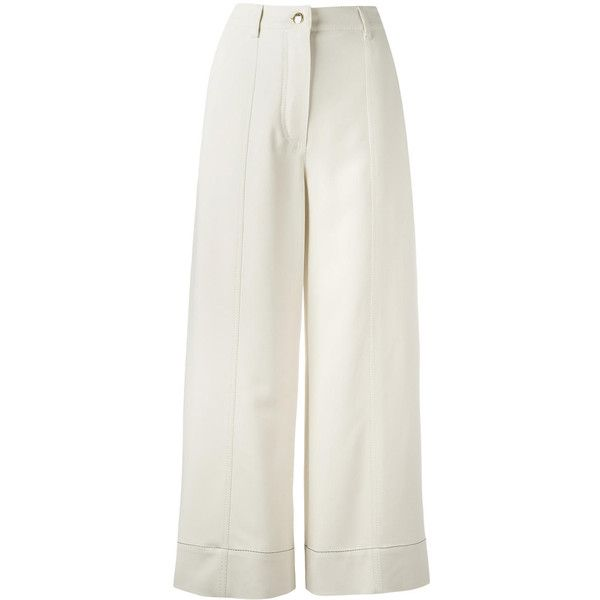 Sonia Rykiel wide leg cropped trousers ($605) ❤ liked on Polyvore featuring pants and capris
