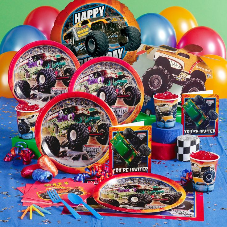 Monster Jam Party Supplies City Unique Birthday Party Ideas And Themes