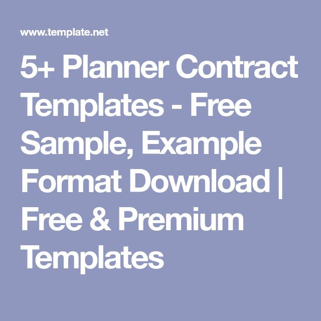 5+ Planner Contract Templates - Free Sample, Example Format Download | Free & Premium Templates