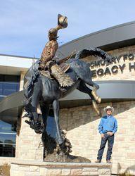Wyoming Cowboy, Country's Most Tech-savvy University Building Dedicates Monumental Bronze