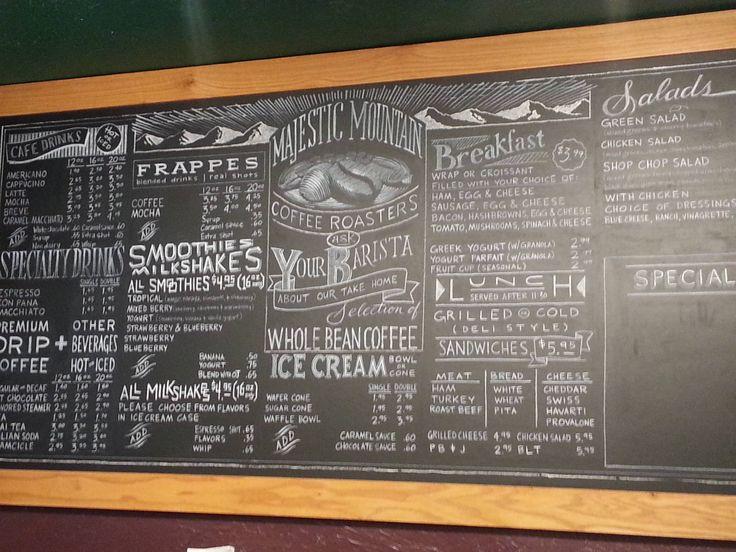 Beautiful chalk menu board in Kingston, WA - Imgur