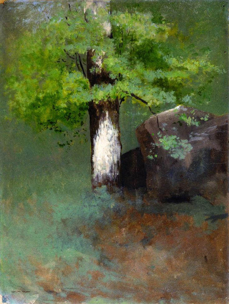 lyghtmylife:  Odilon Redon  [French Symbolist Painter, 1840-1916] The Tree, circa 1875 oil on cardboard  Villa Flora (Switzerland)