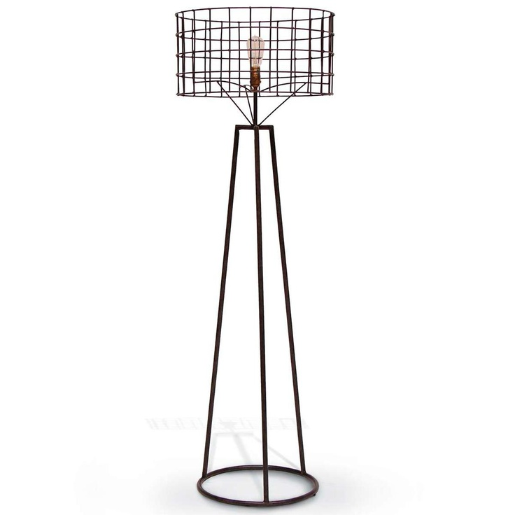 Industrial Cage Floor Lamp My Style Pinterest