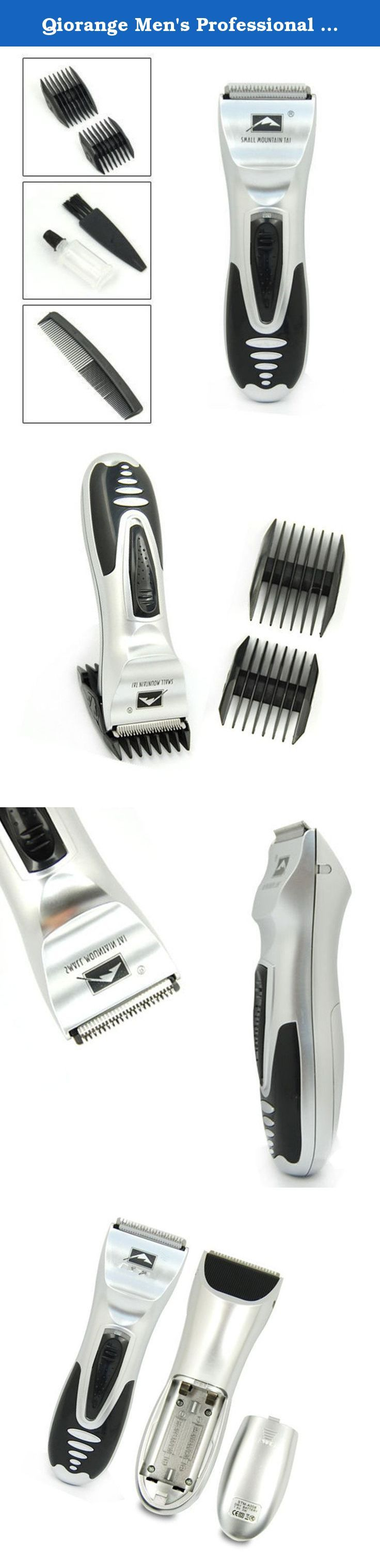 Qiorange Men's Professional Electric Shaver Razor Beard Hair Clipper Trimmer Grooming. Features: Electric hair trimmer helps you fix hair and sideburns fast at different length of 3mm, 6mm, 9mm or 12mm. Hope it let you become more handsome! 100% brand new, high quality Powered by 2×AAA batteries (batteries are not included) Good quality thin metal net slice and strength, the inner blades offer quieter shave and reduced vibration. The adjustable clipping comb is applicable for clipping…