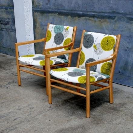 Pair of Danish Modern Lounge Chairs by Erik Jorgensen