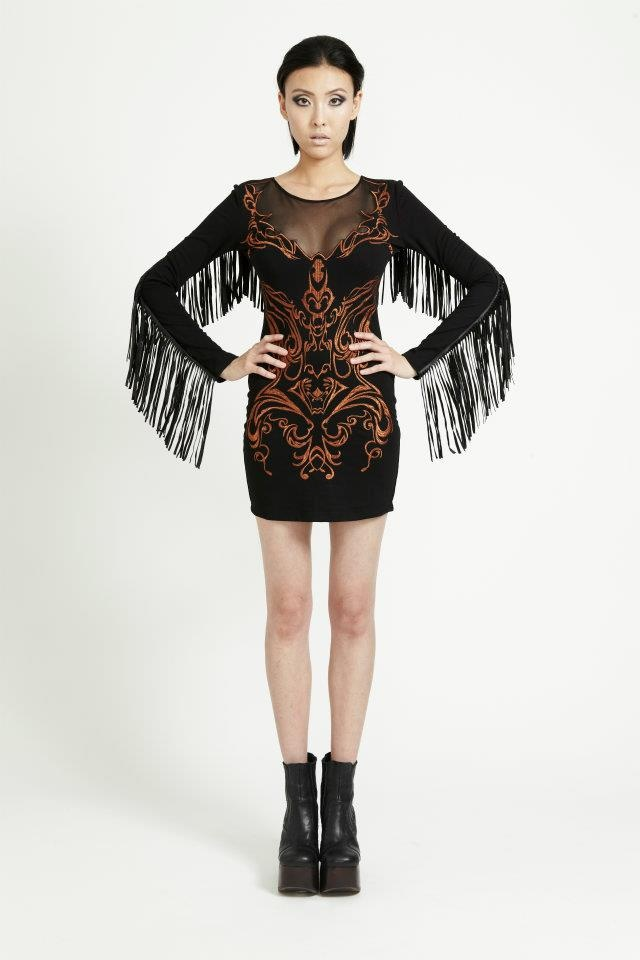 MORTICIA'S RODEO DRESS