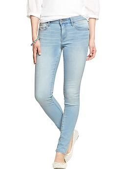 """""""Rockstar"""" Mid-Rise Super Skinny Jeans   Old Navy - surprisingly flattering given my booty sitch!"""