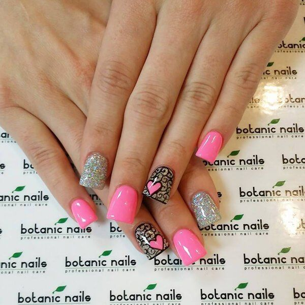 valentins day nail art designs