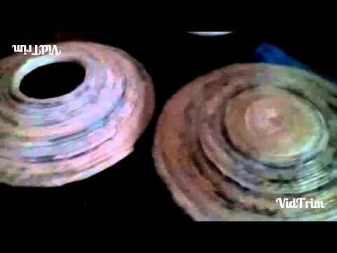 Paper mache art - YouTube