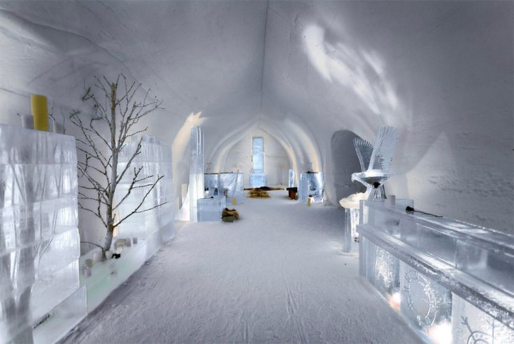 ice hotel lobby from finland.  Would love to see it.
