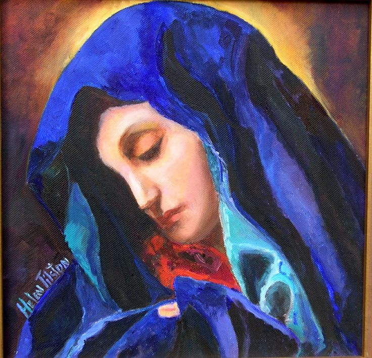 Our Lady of Sorrows  oil by Helen Tilston