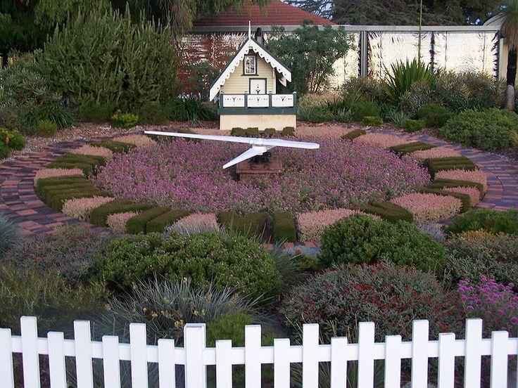 Floral cuckoo clock in Kings Park, Perth, Australia