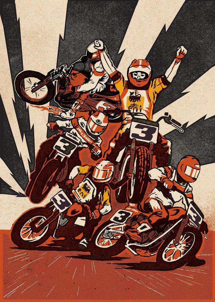 Good Illustration Agency Illustration Artsy Motorcycle Art