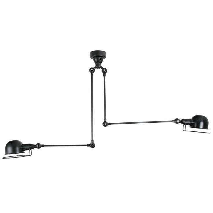 Jielde Style Double Ceiling Lamp Black
