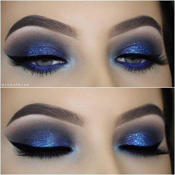 @evatornado royal and indigo blue makeup