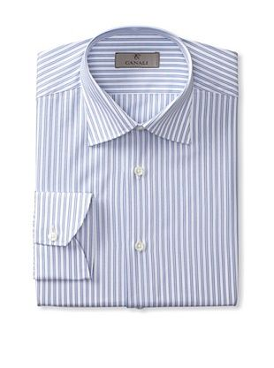Canali Men's Long Sleeve Striped Shirt