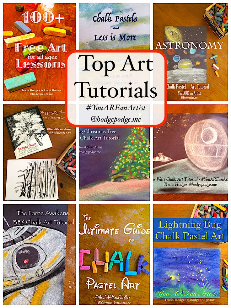Our artists have some top art tutorials here at Hodgepodge! I'm sharing your top 10 favorite art tutorials, below. Be sure to browse and pin to enjoy.