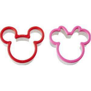 Mickey & Minnie Mouse® Cookie & Sandwich Cutter Set $10.50