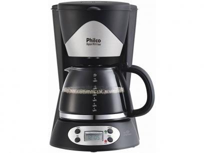 Cafeteira Elétrica Philco PH14 14 Xícaras Inox - Preto e Aço Escovado com as melhores condições você encontra no Magazine Raimundogarcia. Confira!
