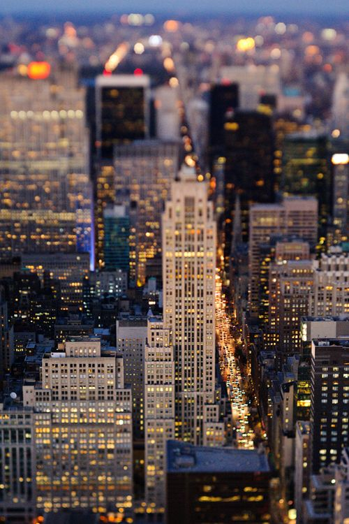 Manhattan, New York (in tilt shift) by DeD Wygleda…