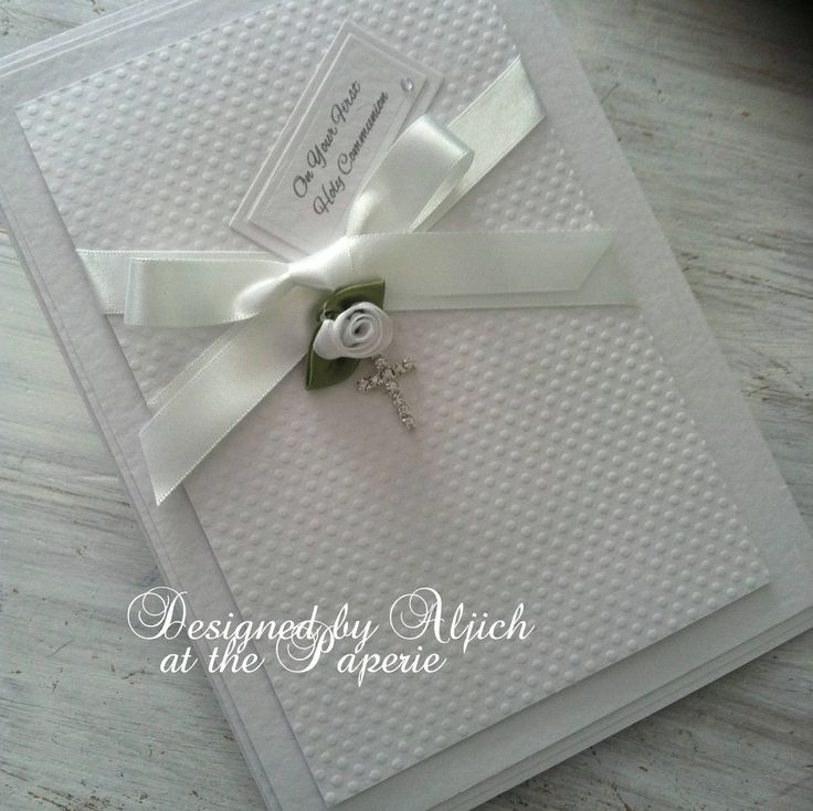 First Holy Communion card, Christening, Baptism, Personalized, Handmade by thelavenderblue on Etsy
