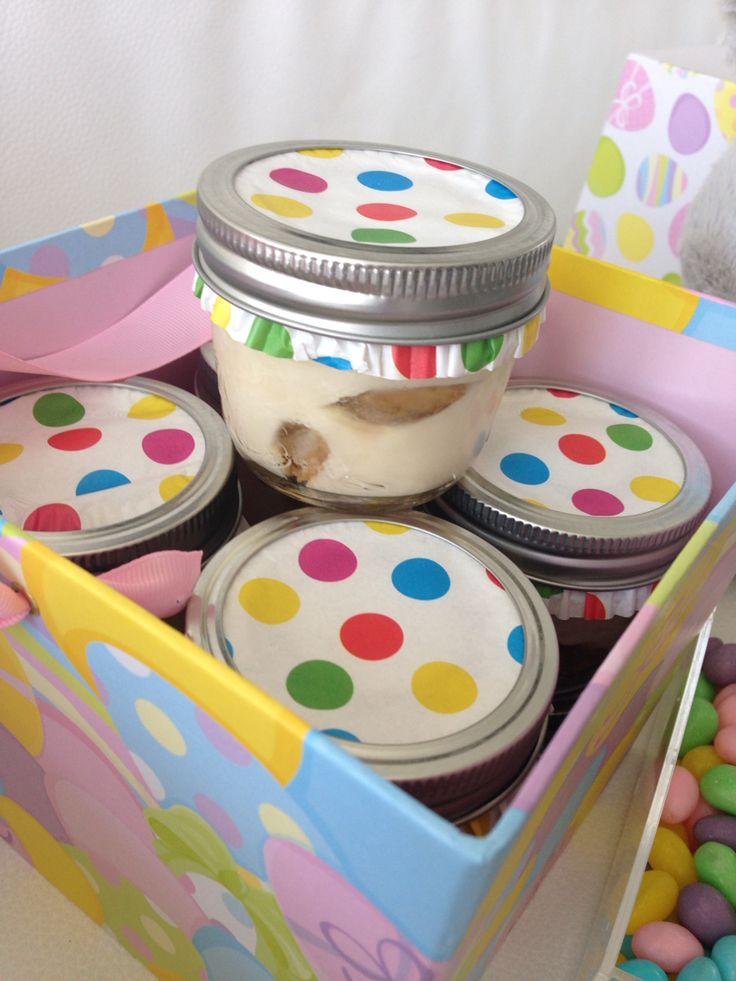 Tiramisu in a jar - Easter basket