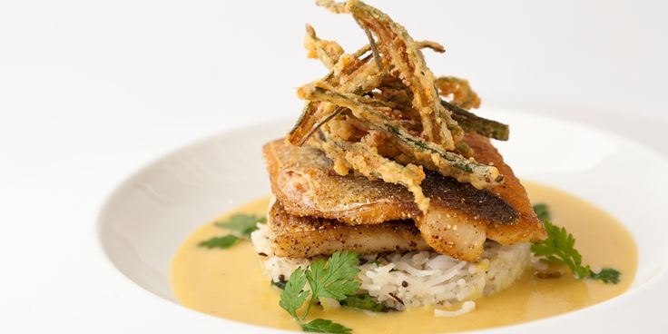 Sea bass is used brilliantly in this Indian style grilled sea bass recipe from Vineet Bhatia. Dhal sauce, okra and coconut rice give it a notable freshness