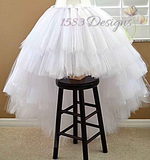 ULTRA FULL High/Low Custom Made Tutu Skirt  Layered by 1583Designs