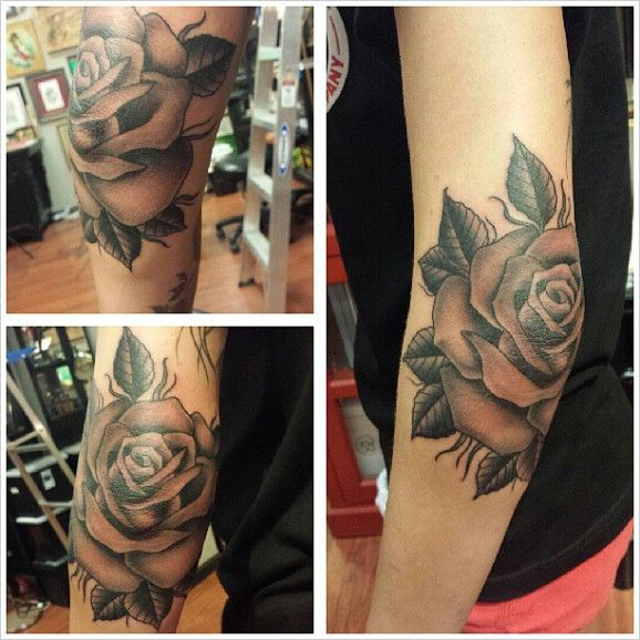 rose tattoo Last Sparrow Tattoo