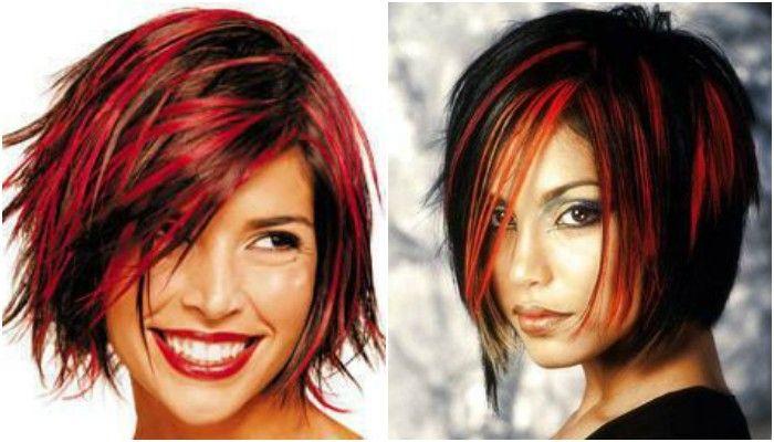 Frisyrer med mørkt hår og røde nyanser! JA røde nyanser!! ❤ Dette blir aldri kjedelig!! ❤❤