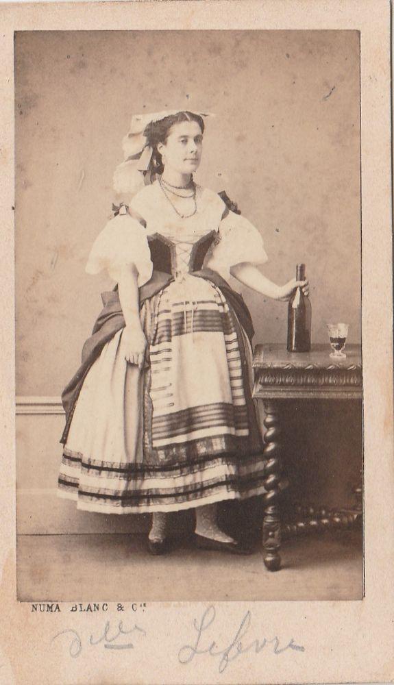Cdv 1860 c.a. Commediante in Posa by Numa Blanc Paris -L5443