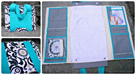 diy diaper bag/changing station. will take lots of time and sewing so start making it well before it is needed.