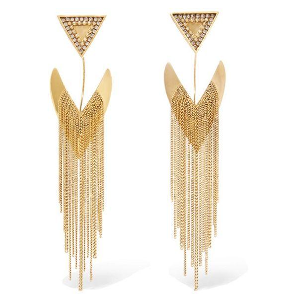 Erickson Beamon - Smoking Jacket - Vergoldete Ohrringe mit Swarovski-Kristallen - #Erickson Beamon #earrings